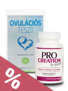 ProCreation nőknek és ovulációs teszt akciós csomagban