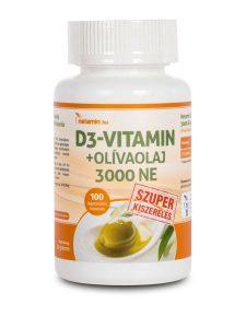 Netamin D3-vitamin + olívaolaj 3000 NE kapszula SZUPER kiszerelés