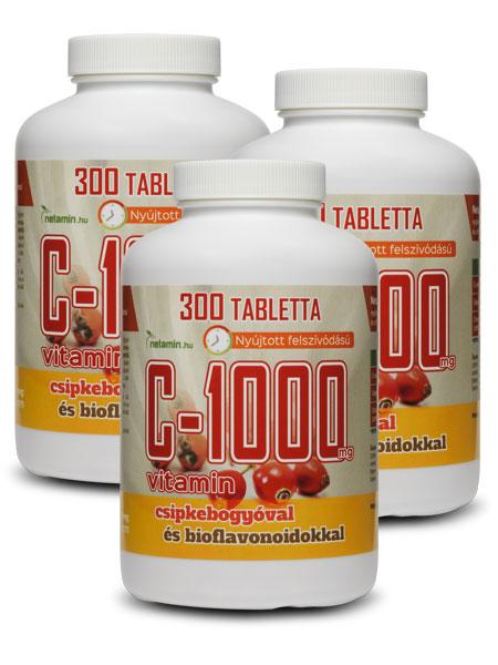 Netamin C-1000 mg EXTRA tabletta – 3 db, gazdaságos kiszerelés