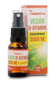 Netamin Vegán D-vitamin szájspray 3000 NE