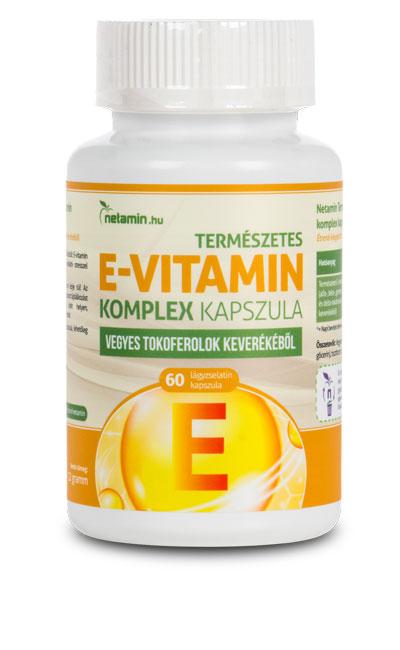 Netamin Természetes E-vitamin komplex kapszula